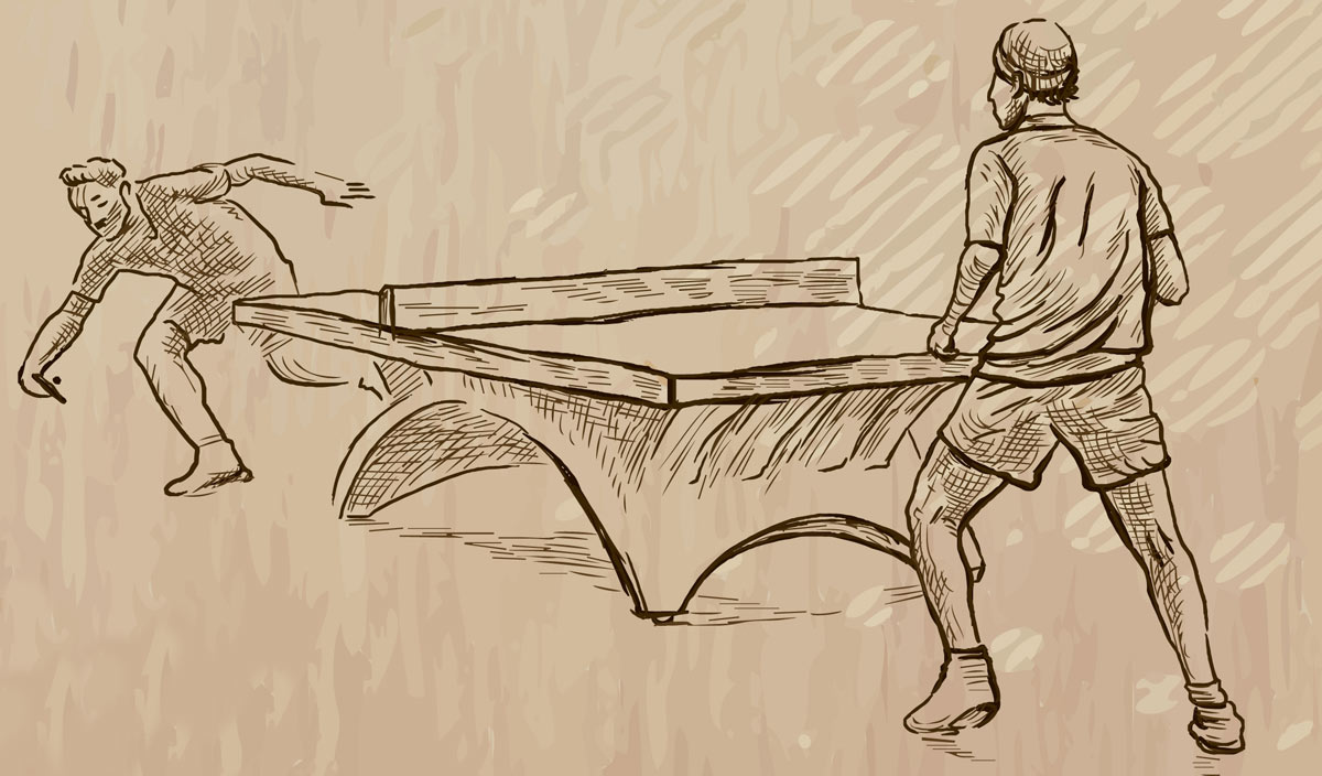 Image for a brief history of table tennis